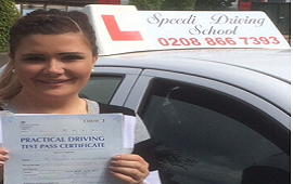 Michelle passed with Speedi driving school